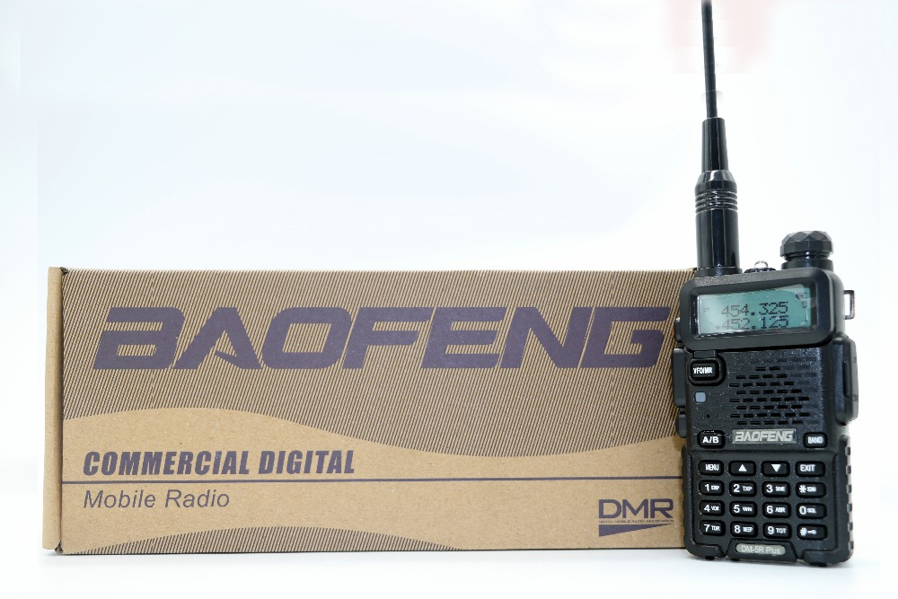 Baofeng DM-5R Plus Portable Radio VHF UHF Double Bande Numérique DMR Analogique double mode 5 w 128CH Talkie-walkie Taklie DM5R + émetteur-récepteur