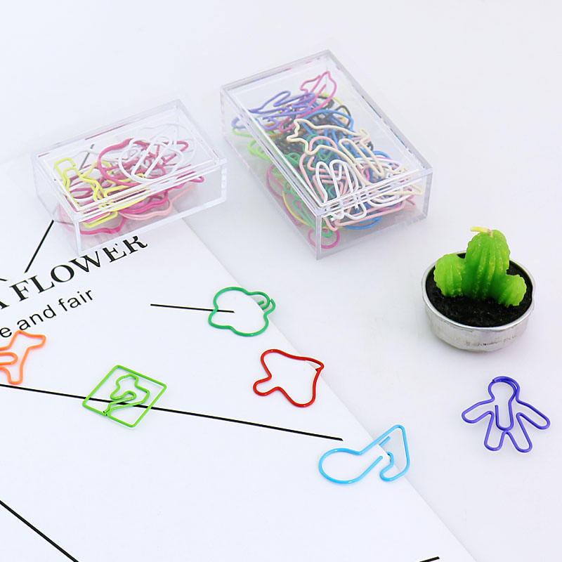 Mixed Paper Clips Lovely Colour Pin Office Stationery Bookmark Shool Stationary Office Clip Paperclips Metal Kawaii Stationery