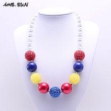 MSH.SUN moda para chicas collar de cuentas gruesas para niños collar de princesa Bubblegum collares de cuentas artesanales joyería para regalos de fiesta