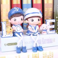 LOVE Diao Navy Doll Resin Home Decoration Crafts Couples Gifts Small Decoration Navy Wind Home Decoration 0571