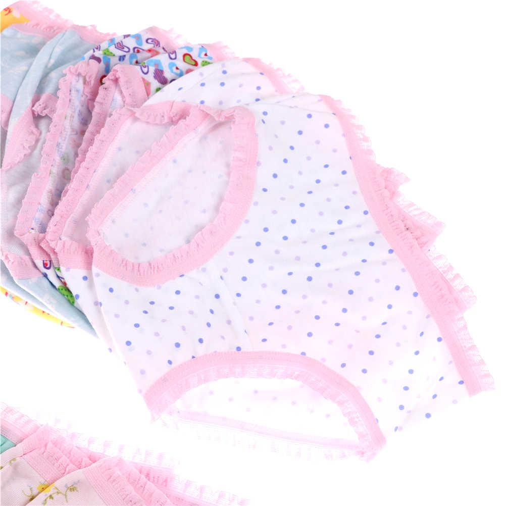 1 قطعة سراويل داخلية قطنية للبنات ملابس داخلية قصيرة للأطفال سراويل قصيرة للأطفال مُزينة برسوم كرتونية سراويل داخلية للبنات
