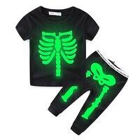 Mud Kingdom Children S Sets Halloween S Clothes Boys Shirt Kids Clothes Halloween S Gift Skeleton