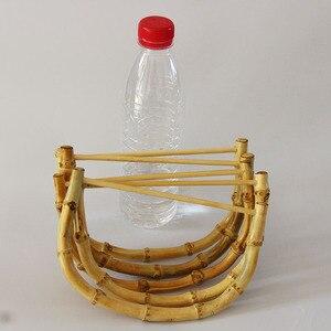 Image 5 - 10 sztuk za dużo rozmiar 18.5X12.5 CM natura kolor bambusowa torba uchwyt DIY akcesoria torebkowe drewniane trzciny torebka rama chiny Online