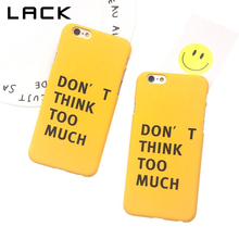 LACK Fashion Funda Letter Case Hard PC Cover For iphone 6 Case Funny Cartoon Frosted Phone Cases For iphone 6S 6 PLus Capa Para