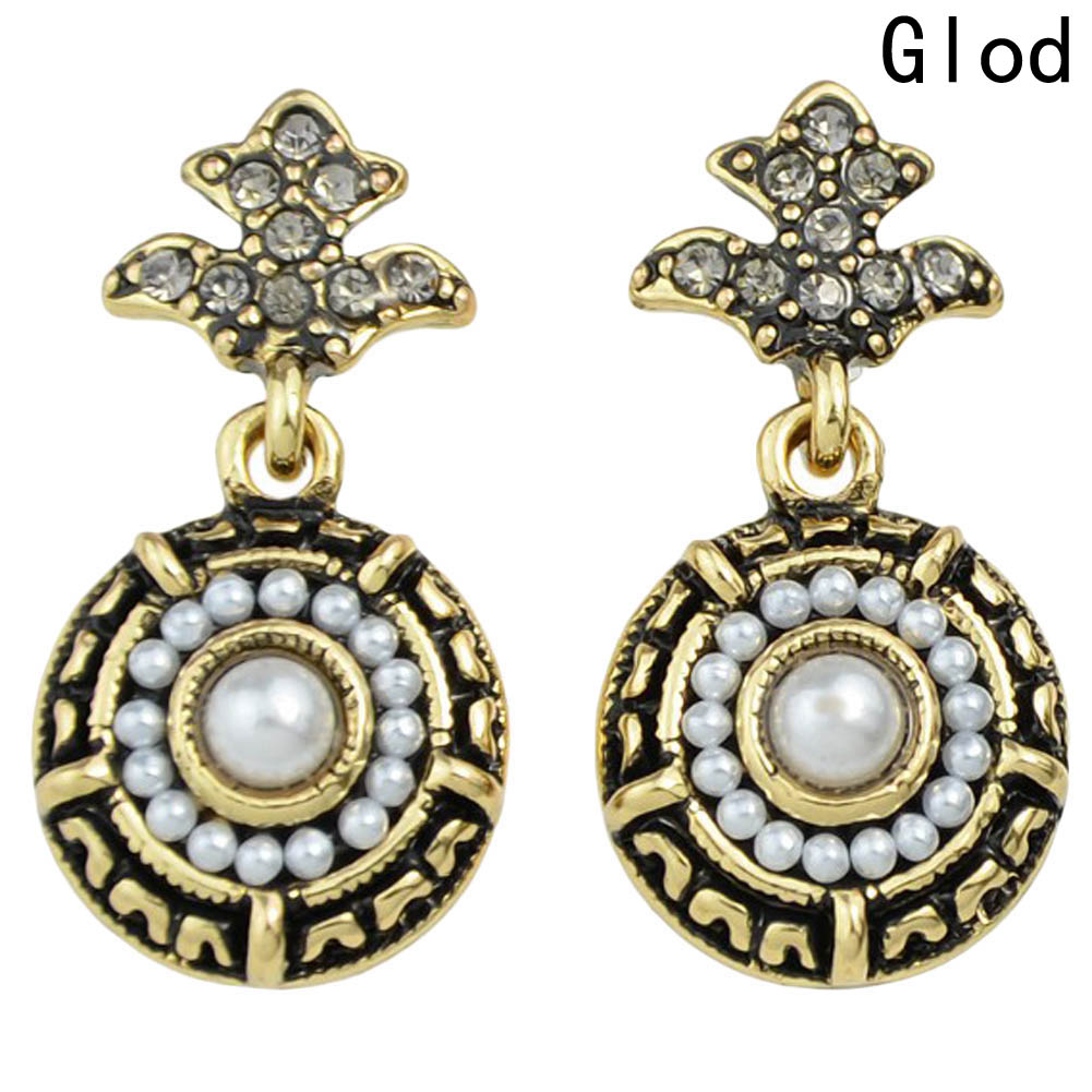 New Vintage Elegant Round Black Palace Full Rhinestones Jewelry Fashion Brand For Women Innovative Bijouxc