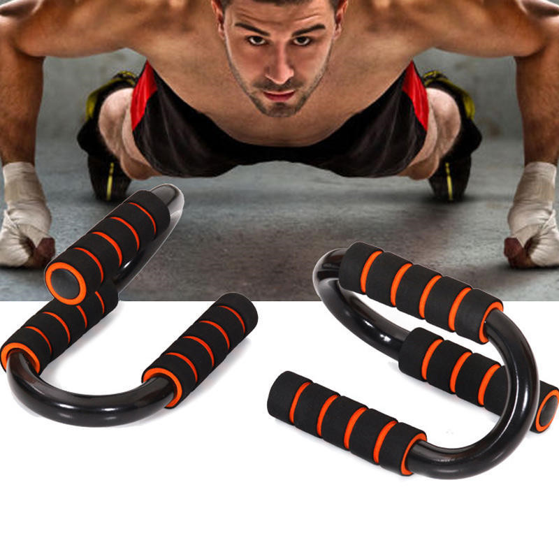 Power Trainer Push Up Stand Bar Grips Crossfit Hand Support Fitness Equipment