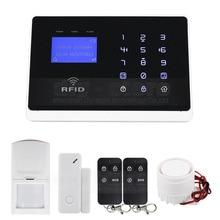 DIYSECUR Wireless Wired Defense Zones GSM Home Security Burglar Alarm System IOS Android App M2FX