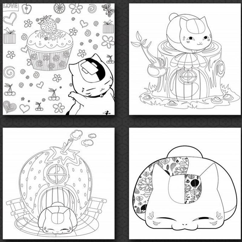 Us 14 36 10 Di Sconto Carino Kawaii Anime Giapponese Adulto Libro Da Colorare Natsume Libri Da Colorare Per Bambini Adulti Di Disegno Pittura Di
