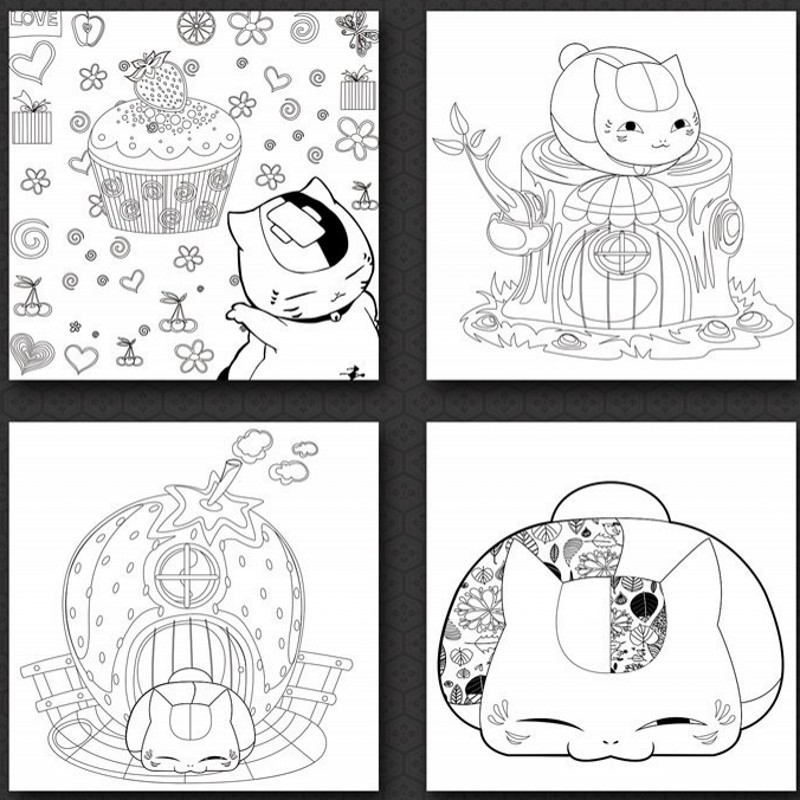 Cute Kawaii Japanese Anime Adult Coloring Book Natsume Books Children Adults Painting Drawing Antistress Colouring In From Office