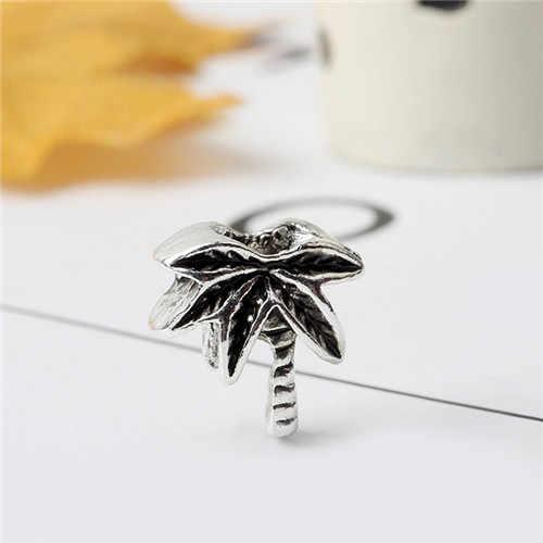 Великолепная эмаль ананас девушка пчела кокосовое дерево цветок бусины из горного хрусталя в виде сердечек Fit Pandora Браслеты для женщин амулеты «сделай сам» ювелирные изделия