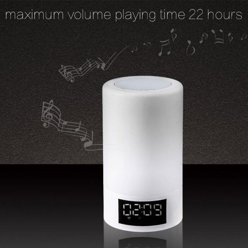 Led colorido luz da noite toque bluetooth de áudio casa inteligente lâmpada alto falante atmosfera emocional - 6