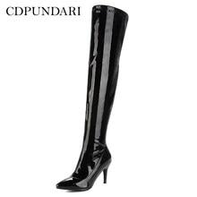 c9a009f4f CDPUNDARI High heel over the knee boots women thigh high boots Ladies  Winter shoes woman botas