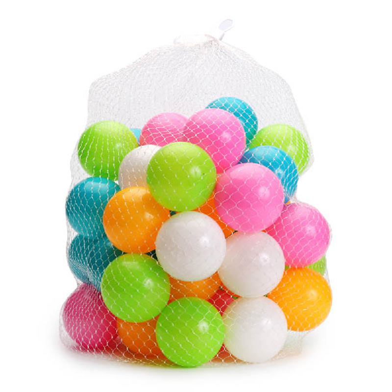 50PCS /Set Baby Funny Ocean Balls Toys Outdoor Fun Kids Tent Sport For Play Pit Baby Pool Colorful Soft Plastic Stress Air Ball