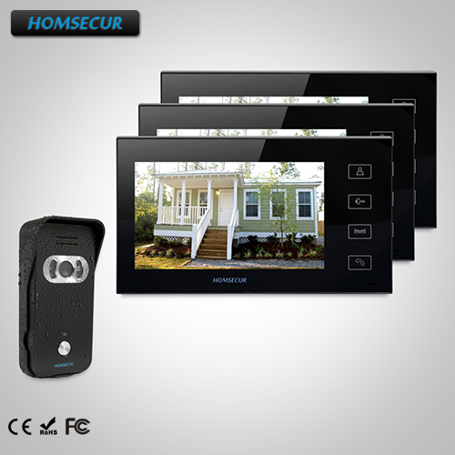HOMSECUR 7 Hands-free Video Door Entry Security Intercom+IR Night Vision TC021-B Camera + TM704-B Monitor