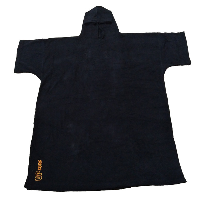 Wetsuit Poncho-Towel Changing-Robe Hood Adult 100%Cotton Beach-Sports With For Swim Oversize
