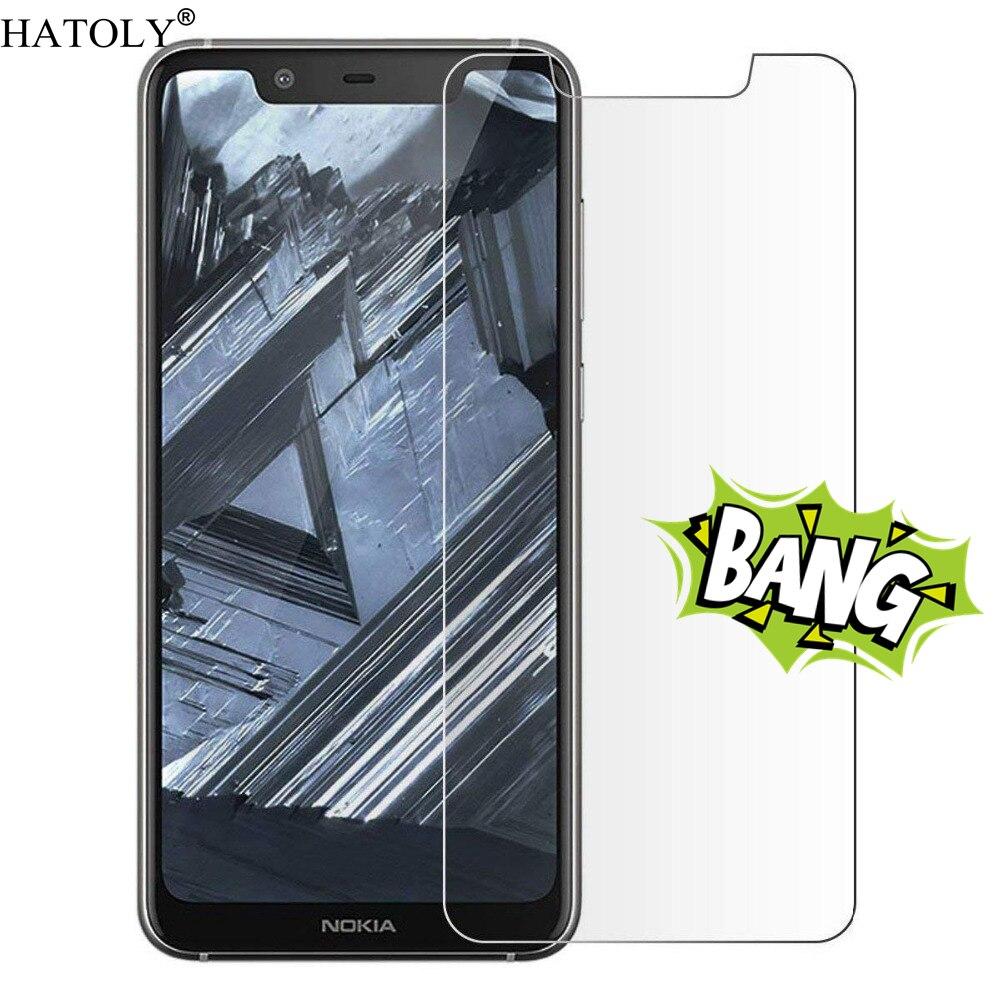 2PCS Tempered Glass for Nokia 5.1 Plus X5 Ultra-thin Screen Protector for Nokia 5.1 Plus TA-1109 Film for Nokia 5.1 Plus Glass