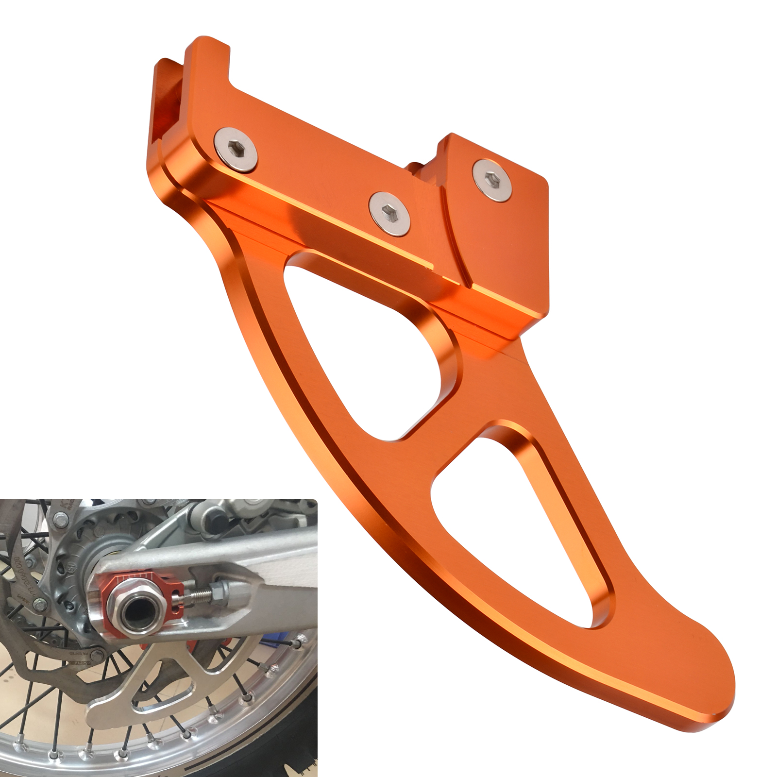 NICECNC Rear Brake Disc Guard For KTM 125 150 200 250 300 350 400 450 500 530 SX SX-F EXC EXC-F XC XC-W XC-F XCF-W SXF EXCF XCF цены