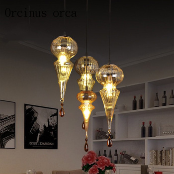 Southeast Asia Glass Chandelier Cafe living room bar Morocco exotic iron small Chandelier free shipping