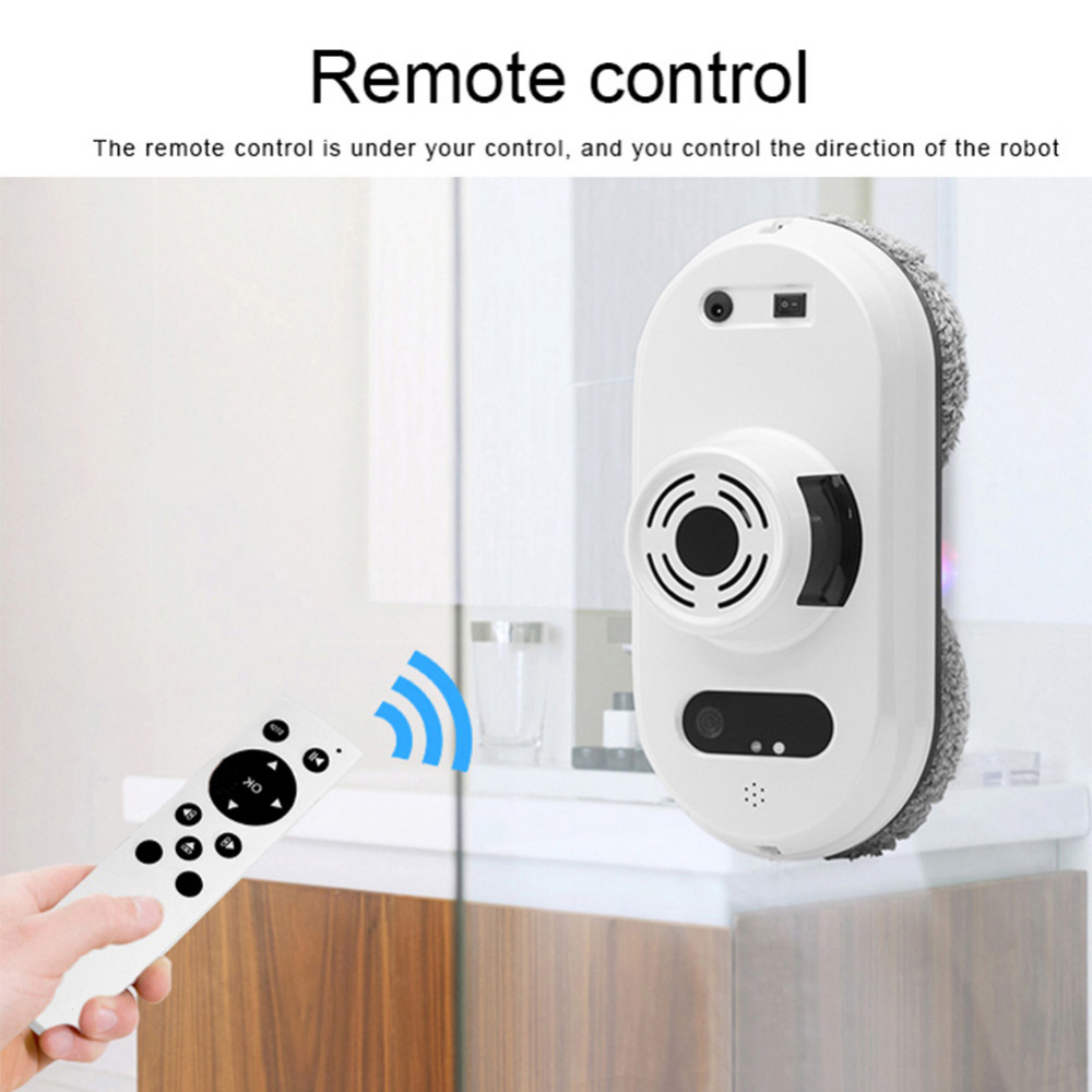 Window Cleaning Robot Auto Cleaner Robot Anti-Falling Window Vacuum Cleaner Remote Control Glass Cleaning EU Plug 3 Modes