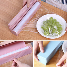 NEW Plastic Wrap Cutter Stainless Steel Blade Cling Film Dispenser Box Foil Wax Paper Film Cutting Box Fruit Food Fresh Keeping(China)