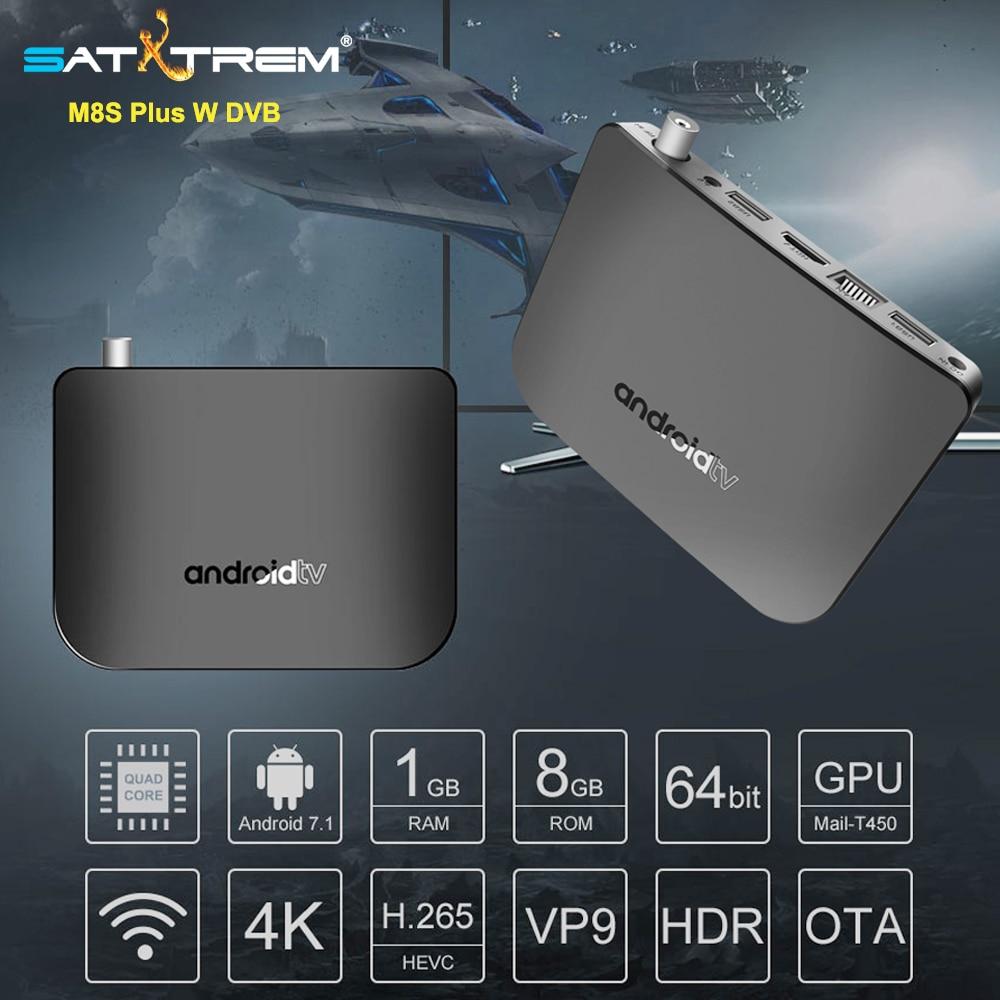 MECOOL M8S плюс DVB-T2/T ТВ коробка Android 7,1 Amlogic S905D 1 ГБ DDR3 Оперативная память 8 ГБ Встроенная память Wi-Fi Декодер каналов кабельного телевидения Bluetooth 4 ...