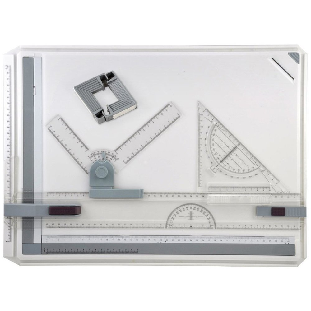 MyLifeUNIT A3 Drawing Board Drafting Board  Straightedge Drafting T Square Protractors Adjustable Angle Art Drawing Tools
