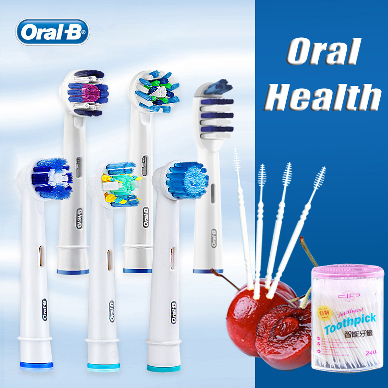 Original Oral B Brush Heads Refills Teeth Whitening Dental Clean Oral Hygiene Precision Nozzles For Rotary Electric Toothbrush image