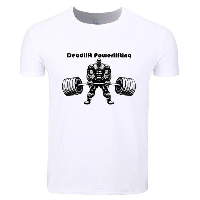 638af8a4 Asian Size Men Print Gymmer Deadlift Powerlifting Workout T-shirt O-Neck  Short Sleeves Summer Fitness Tough Guy Tshirt HCP4201
