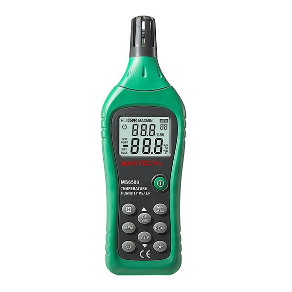 Mastech Ms6508 Thermo Hygrometer Digital Temperature Humidity Moisture Meter Tester Thermometer Moisture Meter Moisture Meter st8040 st 8040 digital moisture meter tester