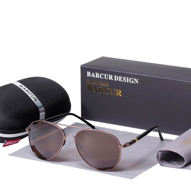 4ec9d43f6d6 BARCUR Brand Sun glass With Box free Polarized Sunglasses Men Driving Sun  Glasses Women Oculos UV 400 Sunglasses