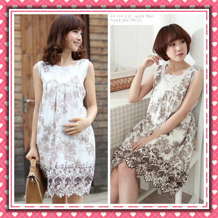Fashion summer maternity clothing exquisite embroidered maternity ...