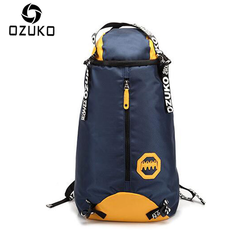 2017 OZUKO Travel Men Backpacks Large Capacity Waterproof Backpack Fashion High Quality Men Oxford Laptop School Bags Rucksack voyjoy t 530 travel bag backpack men high capacity 15 inch laptop notebook mochila waterproof for school teenagers students