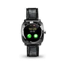 X3 bluetooth schrittzähler schlaf smart watch leder android smartwatch monitor fernbedienung kamera musik sim-tf-karte