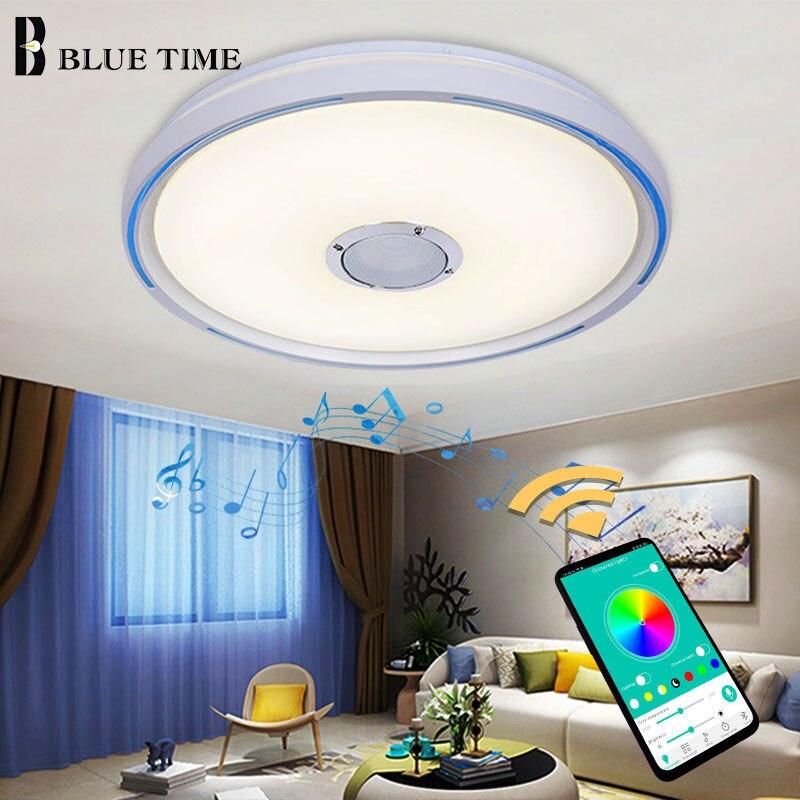 Musique jouant des lampes de plafond moderne à LEDs pour chambre salon salle à manger APP contrôle mode LED plafonniers appareils ménagers