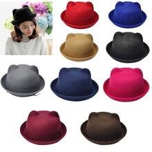 Женская кепка с кошачьими ушками, джаз, котелок, фетровая шляпа, весна-осень, цилиндрическая Кепка s Bonnet FDC99