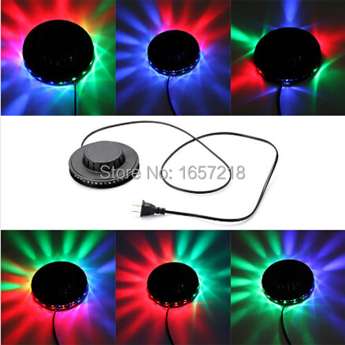 5W 220vRGB Auto Color Changing Rotating 48 LEDs UFO Sunflower LED Stage Light Wall Mount for KTV Bar DJ Club Disco Dancing
