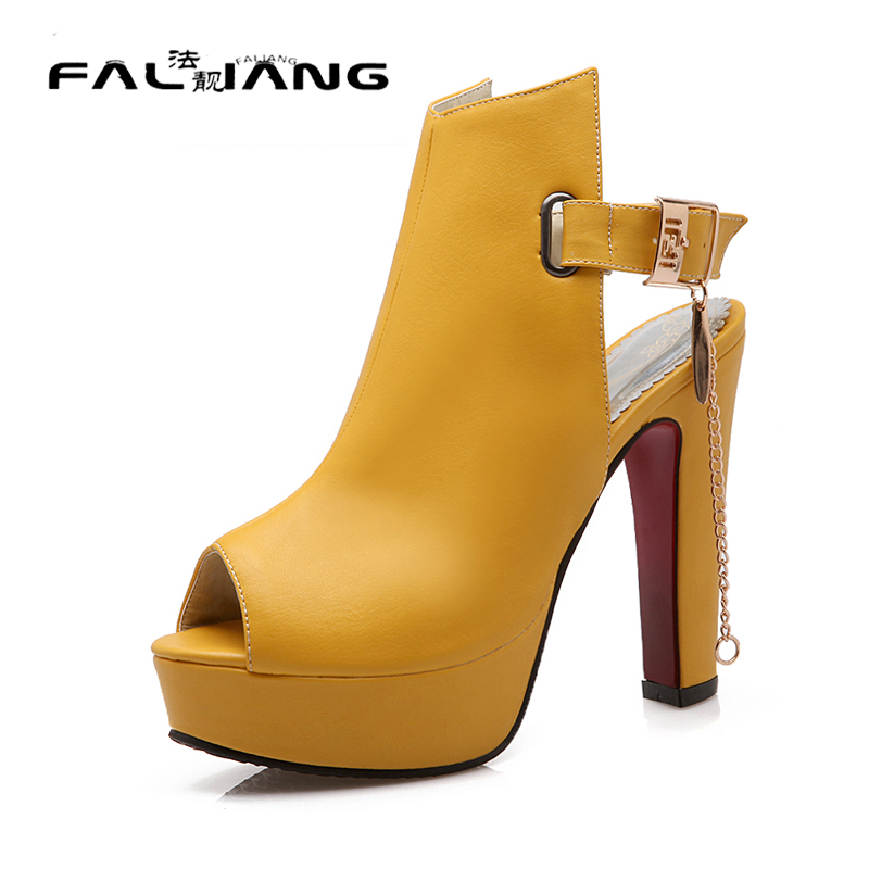 Womans Summer Shoes 2017 Casual Buckle Fashion Square heel ...