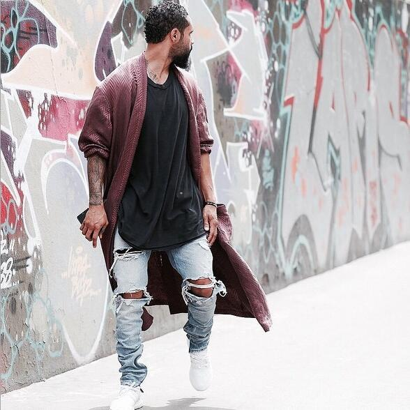 Kanye West Skinny Ripped Jeans