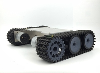 DIY 149 Alloy Tank Chassis with Nylon Crawler belt Tracked Vehicle Robot Chassis