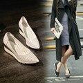 Обувь Дамы Туфли На Высоких Каблуках Формальные Вырезы Мягкая Кожа Простой Пу Основной Бренд Обуви Женщина Свиной Западная Уличная Мода