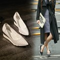 Shoes Ladies High Heel Shoes Formal Cut Outs Soft Leather Simple Pu Basic Brand Shoes Woman Pigskin Western Street Fashion