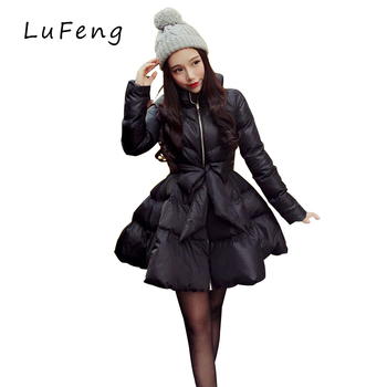 New arrival bow waist fluffy skirt font b a b font warm coat jacket parkas for.jpg 350x350
