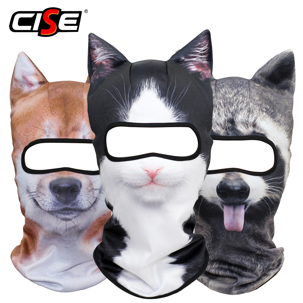 3D Ears Animal Motorcycle Balaclava Full Face Mask For Winter Music Festivals Rave Ski Halloween Party Snowboard Cycling Fishing