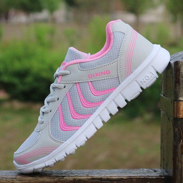 2019 Новый серый розовый для женщин дышащие кроссовки тренировка бега трусцой фитнес леди обувь 916 s