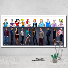 Canvas Poster Riverdale Wall Pictures for Living Room Posters Paintings on The Tableau Decoration Murale Salon Pop