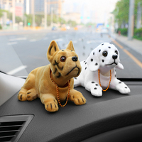 Car Ornament Shaking Dog Nodding Puppy Doll Cute Auto Dashboard Interior Decoration Shakes Head Bobblehead Dog