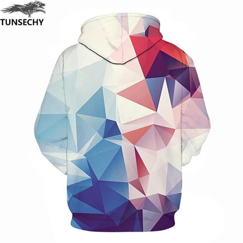 Tunsechy 남성/여성 모자 모자 hoody 인쇄 색상 블록 가을 겨울 3d 스웨터 후드 후드 탑스 도매 및 소매