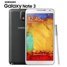 "Original Samsung Galaxy Note 3 Note III Mobile Phone Quad Core 5.7"" 13.0MP GPS WCDMA 3G RAM NFC Refurbished Smartphone"