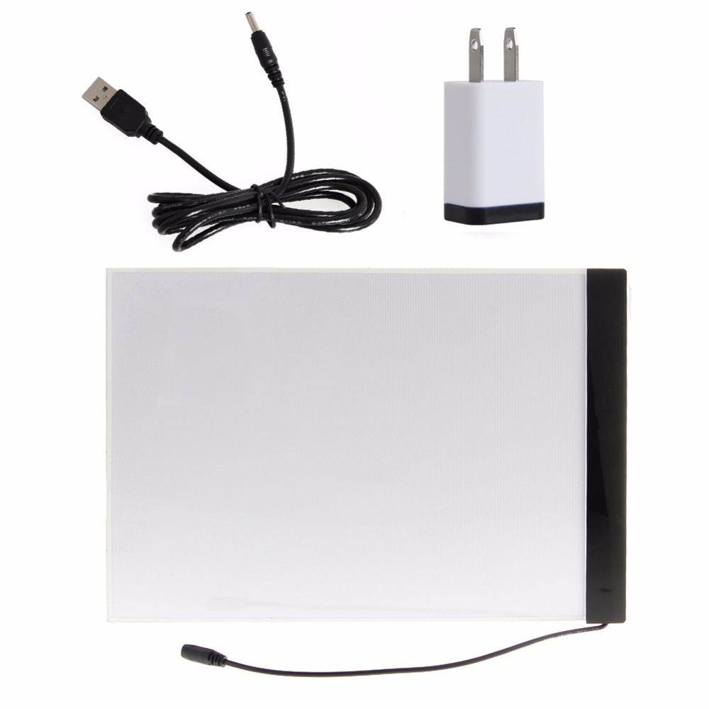 1 Set A4 LED Artist Thin Art Stencil Board Light Box Tracing Drawing Board NEW