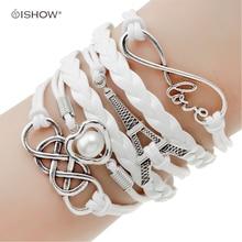 Juegos Del Hambre Vintage Bird Owls Anchor Bracelets Wrap Leather Bracelet Charm bracelets pulseira couro bracelets